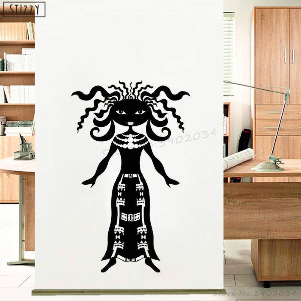 zhuziji Tatuajes de Pared Art Mural African Girl Poster Pegatinas ...