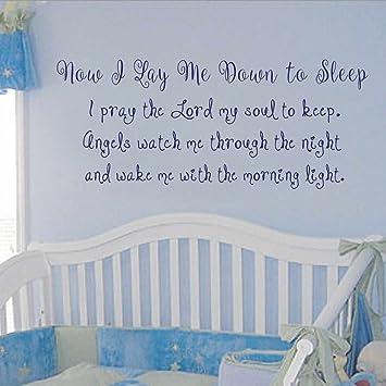 Amazoncom Diggoo Now I Lay Me Down To Sleep Wall Decal Prayer