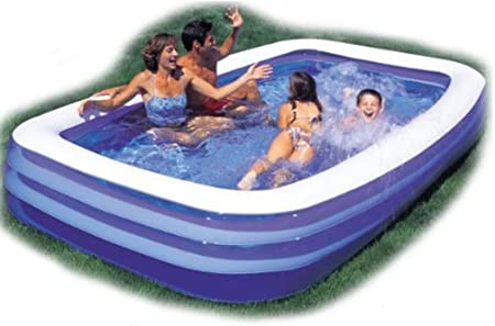 E-Bargains - Piscina Rectangular Grande Hinchable con Bomba de 240 ...