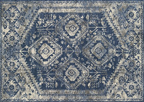 Loloi Rugs, Emory Collection - Blue / Pebble Area Rug, 9'2