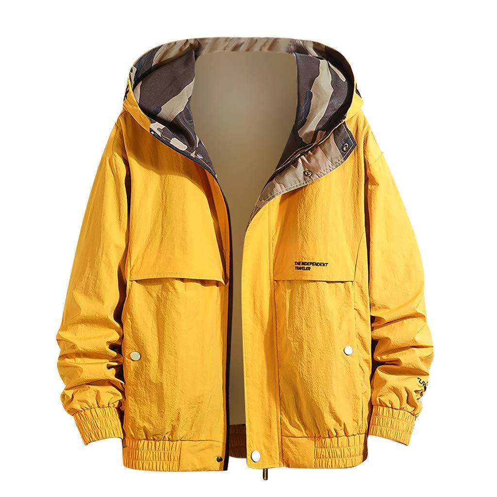 Veste /À Capuche pour Hommes Automne Casual Mode Pure Color Jacket Plusieurs Poches Outwear Denim Jacket Men Manteau