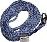 Miller Titan by Honeywell 300L/30FTBL 3-Strand 30-Feet Twisted Polypropylene Blend Rope with Locking Snap Hook and Loop