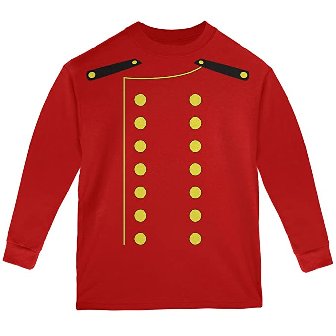 1aa3d039cef8 Old Glory Halloween Hotel Bellhop Costume Red Youth Long Sleeve T-Shirt