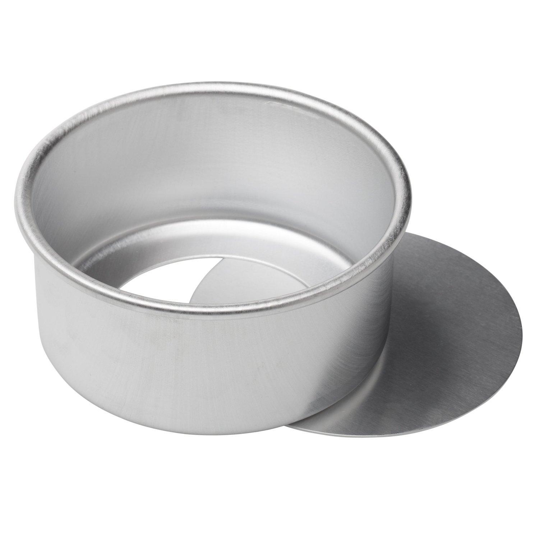 dealglad® 15, 2x 7, 6cm rund Käsekuchen Pfanne aus eloxiertem Aluminium Chiffon Kuchen Form Backform mit herausnehmbarem Boden dealglad® 15 2x 7