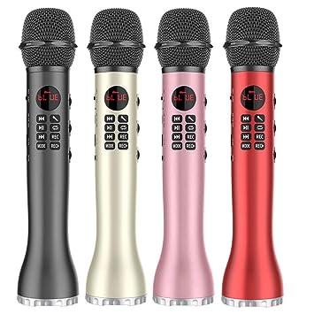 CplaplI Micrófono Inalámbrico Bluetooth Altavoz Y-118 Teléfono Móvil K Artefacto De Canción K Song Treasure Micrófono De Canto Bluetooth Dorado: Amazon.es: Electrónica