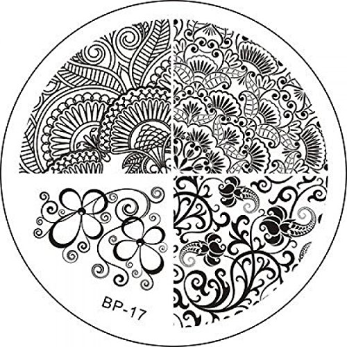 Image Stamp Case Nail Art Plates Pattern Code17