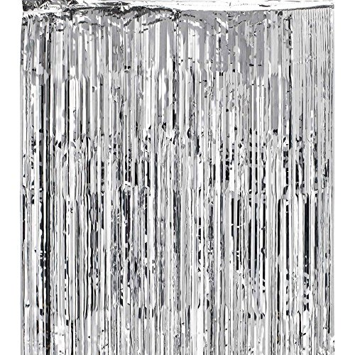 Heartfeel Package of 1 Foil Fringe Metallic Curtains 3' X 8' (36