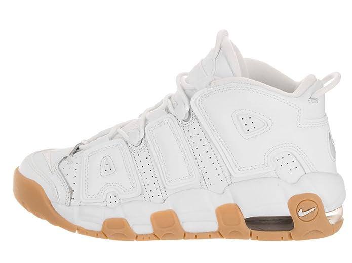 42cb15eaec Amazon.com   NIKE Kids Air More Uptempo (GS) White/White/BMB/GM Lght BRWN  Basketball Shoe 5.5 Kids US   Basketball