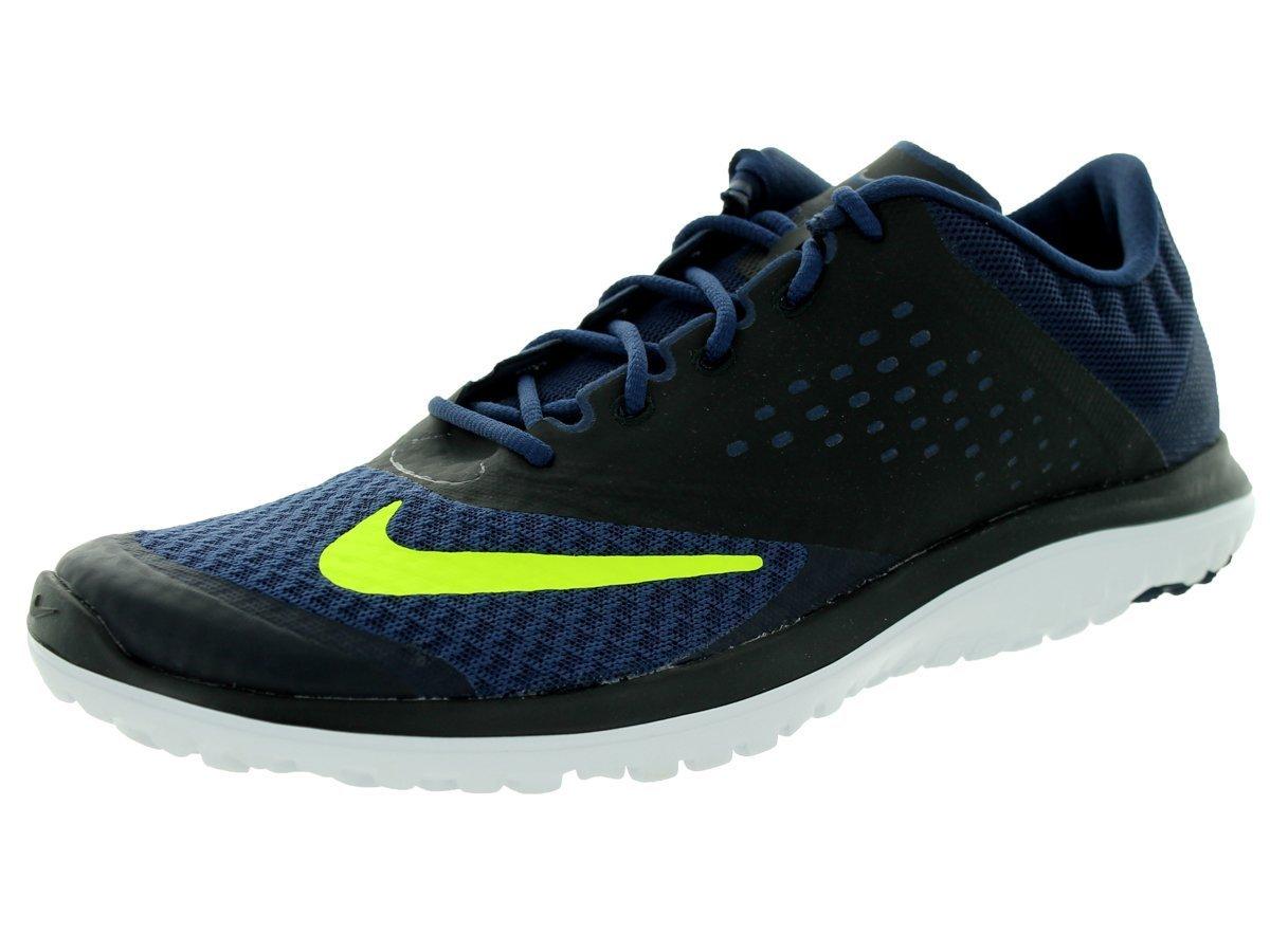 NIKE Men's Fs Lite 2 Running Shoe B00IDO5LPE 13 D(M) US Midnight Navy/Volt/Black/White