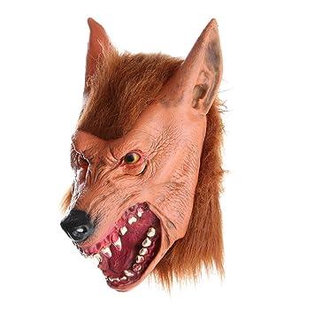 D DOLITY 1 Pieza Cabeza Máscara de Diseño Animal de Látex para Hombres como Regalo de
