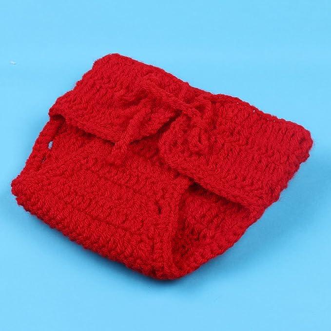 HAPPY ELEMENTS Bebé recién nacido apoyo de la fotografía del traje de navidad lindo sombrero tejido a ganchillo Trajes Set (juego de dos piezas): Amazon.es: ...