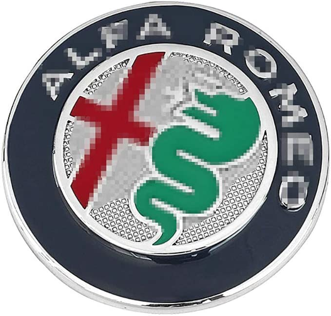 QHCP Aluminium Alloy Car Steering Wheel Badge Emblem 3D Sticker For Alfa Romeo Giulia Stelvio Car Styling Accessories
