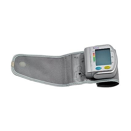 Denshine tensiometro digital de muneca con pantalla LCD digital Operacion de un toque Automaticamente apagado para