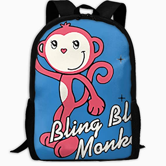 c22b8ad08fa2 Amazon.com  Red Cute Monkey Travel Backpack School Bag Laptop for ...