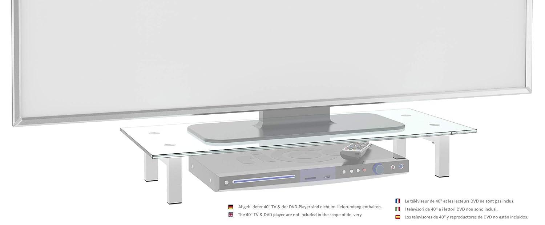 RICOO Supporto da tavolo per TV Montaggio FS8235-B Staffa per televisore base piatto piedistallo Smart 4K Curvo 3D QLED OLED LED LCD mobile braccio television universale Colore Nero