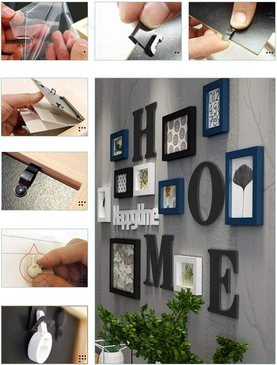 Azanaz Marco de fotos collage combinaci/ón de madera maciza sala de estar marco de fotos pared restaurante creativo fondo decoraci/ón de la pared F
