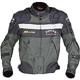 DUHAN(ドゥーハン) バイクジャケット プロテクター付 ライディングジャケット XL モスグリーンオールシーズン 春夏秋冬用 905406