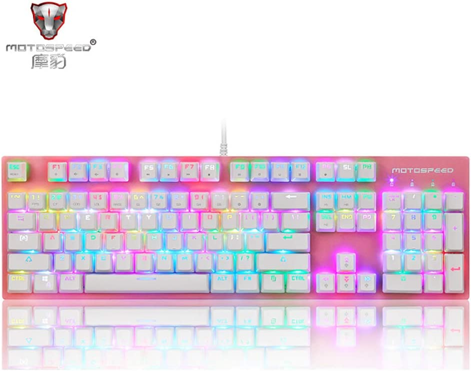 MOTOSPEED CK89 Mechanical Keyboard Kaihua Box axis Custom RGB Backlit Wired Gaming Dedicated Computer Laptop e-Sports Marquee Full Key Conflict-Free Mechanical Desktop Wired Keyboard