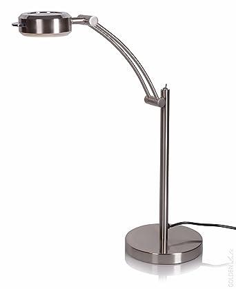 LIVARNO LUXR LED Tischleuchte Aus Metall In Hochwertiger Mattnickel Optik 6 W Modell 2 Amazonde Beleuchtung