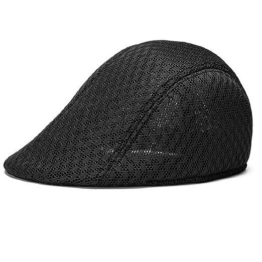 5053d9651 Acamifashion Unisex Duck Mesh Sun Flat Cap Golf Beret Newsboy Cabbie Hat