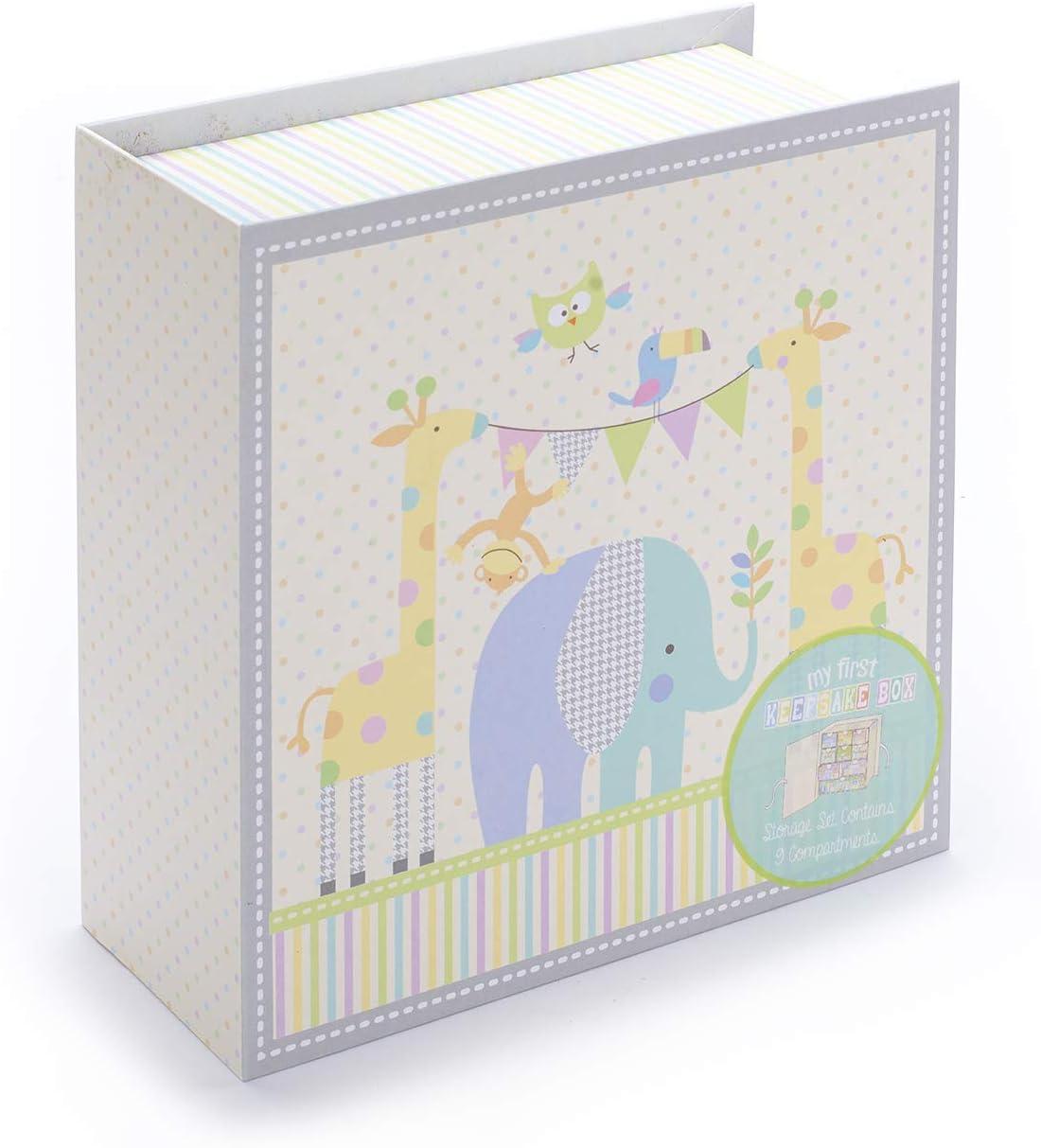 Le premier coffret souvenir de b/éb/é avec 9 tiroirs pour ranger les souvenirs et les tr/ésors sp/éciaux dun enfant Tri-Coastal Design Rose