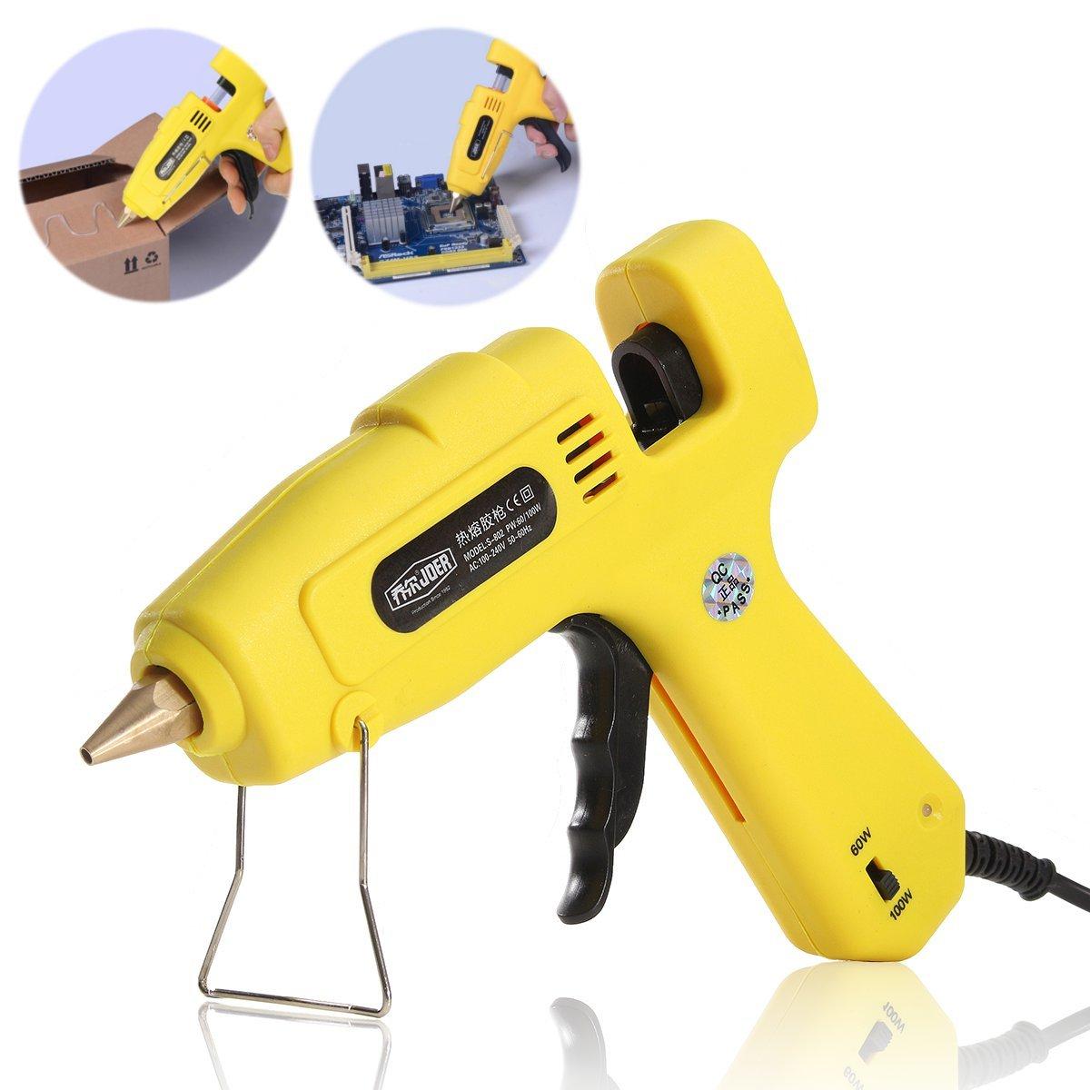 QOJA 110-240v 60/100w electric heating hot melt glue yellow