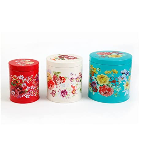 Amazon Com The Pioneer Woman Garden Meadow Tin Canister Set