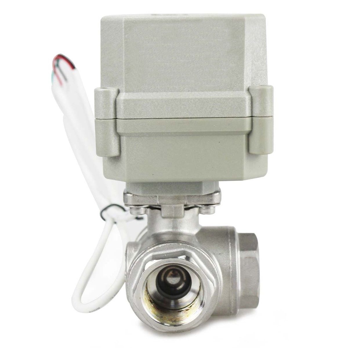 HSH-Flo Stainless Steel 3 Way 110-230VAC 3//4 DN20 CR4-01 4 Wires On//Off Control Electrical Motorized Ball Valve