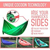 Calm Outdoor Portable Camping Hammock with 33 ft. EXTRA-long Straps + UNIQUE COCOON TECHNOLOGY, Ultra Compact & Lightweight - just 1 lb, Easy Installation