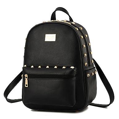 Amazon.com | Cute Girls Small PU Leather Backpacks Satchel Tote ...