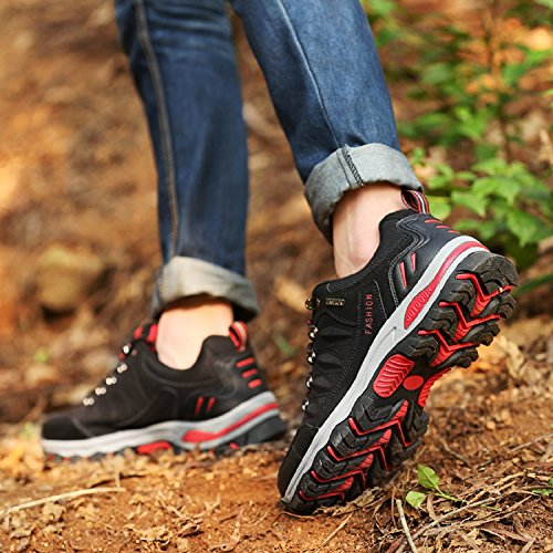 Women's LILY999 up Lace Hiking Sneakers Black Low Climbing Walking Outdoor Rise Men's Trainers Sport and Shoes Trekking qrSFx7q5wC