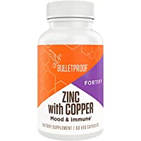 Bulletproof Zinc with Copper, Maintain Immune Function, Healthy Mood, Heart, and...