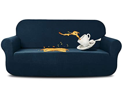 Marvelous Aujoy Stretch Sofa Cover Water Repellent Couch Covers Dog Cat Pet Proof Couch Slipcovers Protectors Sofa Navy Blue Download Free Architecture Designs Scobabritishbridgeorg