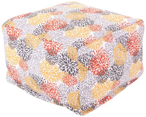 Majestic Home Goods Blooms Ottoman, Large, Citrus by Majestic Home Goods