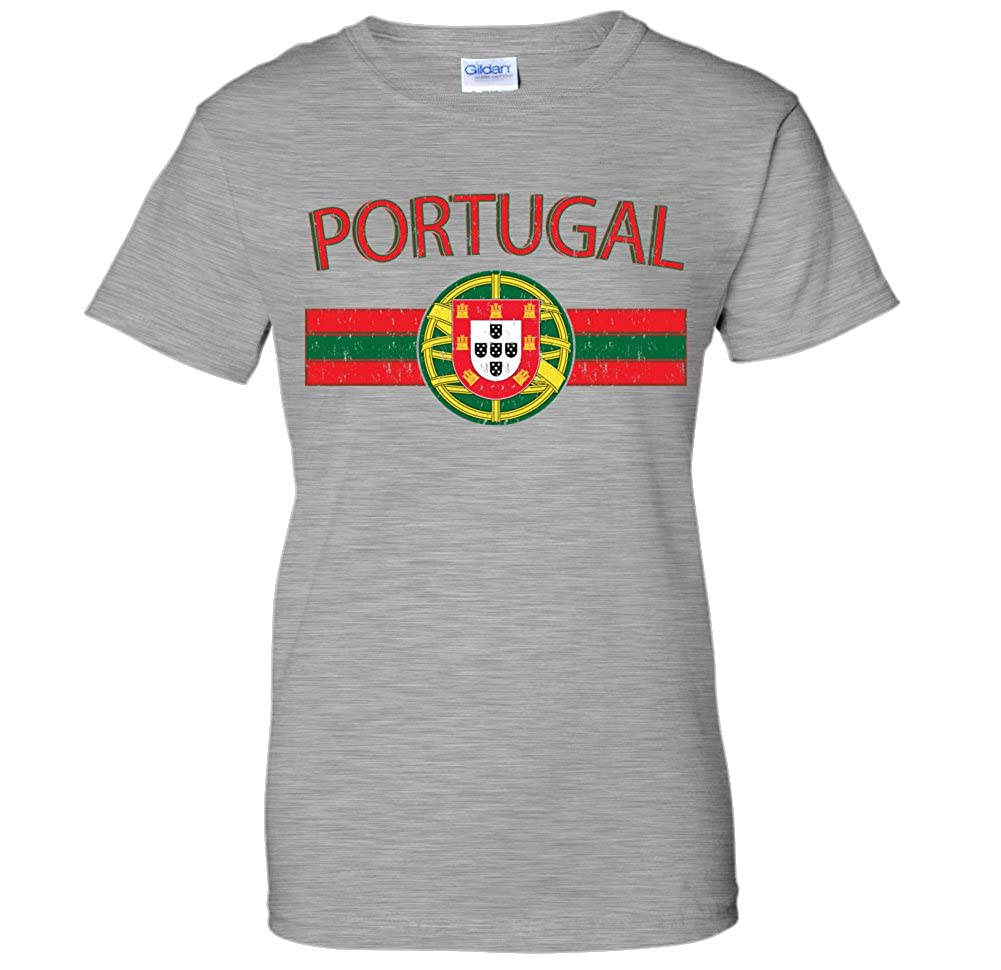 Portugal Distressed Flag Banner Portuguese Coat Of Arms Seal WOMENS T-Shirt 00951_WOMENS