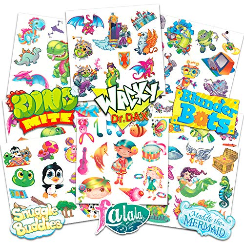 Savvi Temporary Tattoos for Kids Super Set Bundle with Over 300 Deluxe Tattoos ~ Boys and Girls Tattoos Include Race Cars, Mermaids, Pirates, Animals, and More (Tattoo Party Favors for Kids)
