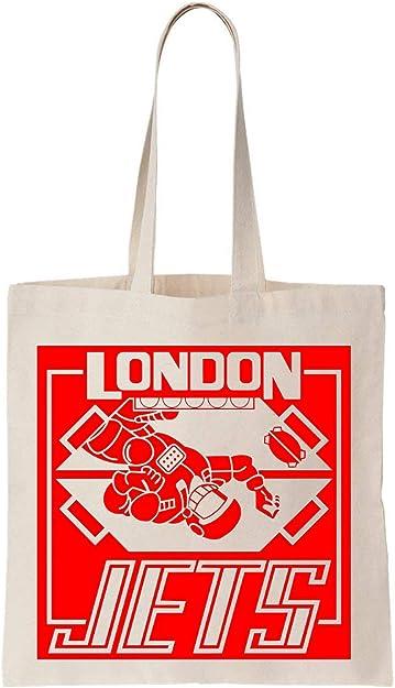 NoMoreFamous London Jets Algodón Bag Tote Bag: Amazon.es: Zapatos ...