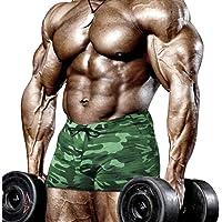 Muscle Alive Hombres Apretado Culturismo Ejercicio 4 Pulgadas Bermudas Aptitud física Gimnasio Ejercicio Ropa de Deporte