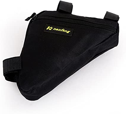 Sports Bicycle Bike Storage Bag Strap-On Pouch for Cycling Triangle Saddle Frame