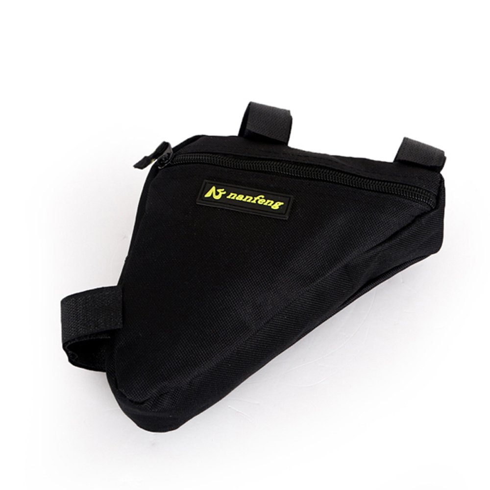 Juemenzhe Sport Bicycle Bike Storage Bag Triangle Saddle Frame Strap-On Pouch for Cycling