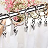Coideal 20 Pack Openable Gold Curtain Rings Metal