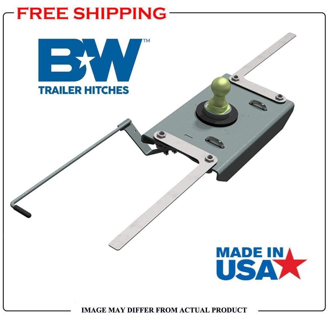 B&W Trailer Hitches Turnoverball 1384 2013-2018 RAM 2500 Trucks Gooseneck Hitch by B&W Trailer Hitches