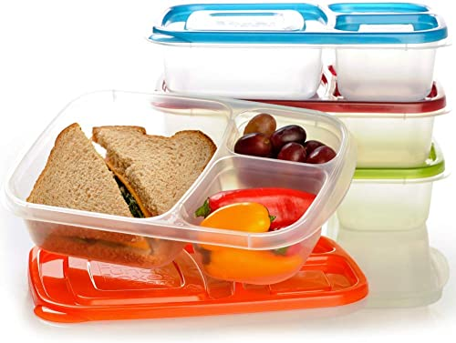 EasyLunchboxes 3-komorowe kontenery Bento Lunch Box Containers