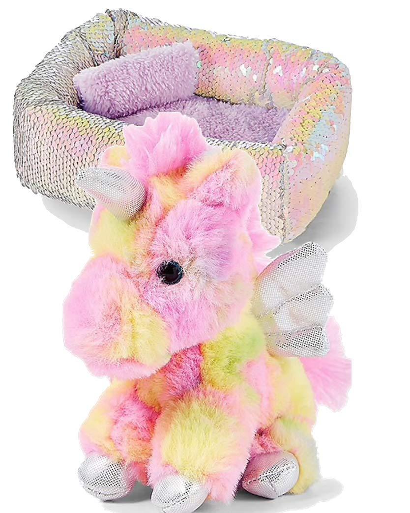 Flip Sequin Bed and Plush 6 Rainbow Unicorn Flip Sequin Bed and Plush 6 Rainbow Unicorn Justice Pet Shop Bundle of 2