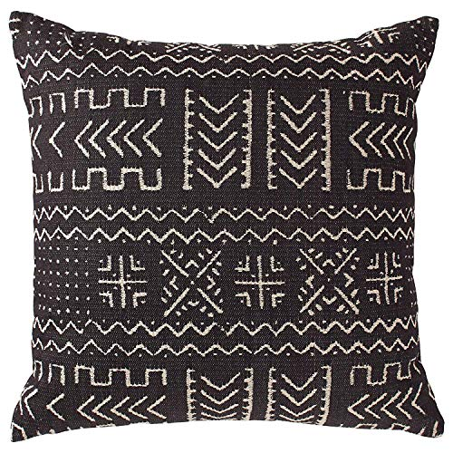 Mudcloth Print - Acelive 20x20 Inches Decorative Throw and Lumbar Pillow Case African MUD Cloth Print Bogolan Pattern Heavy Weight Fabric Cushion Cover for Sofa Home Office Decorative (Color 11)