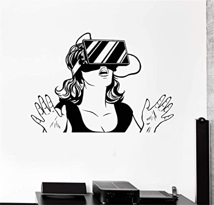 Amazon Com Larmai Wall Sticker For Bedroom Virtual Reality Headset