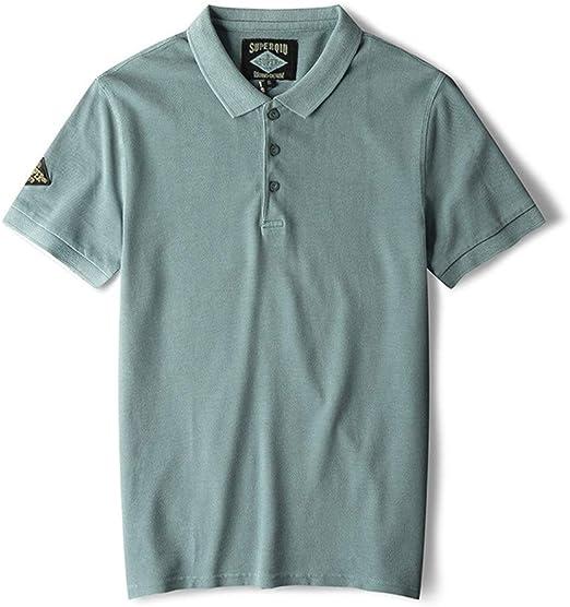 Susulv Manga Corta Camisa Polo de Color sólido for Hombres de ...