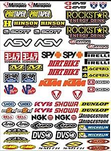 Pegatina de vinilo brillante extra Kit pegatinas para la motocicleta 73 piezas OFERTA moto scooter de motocross