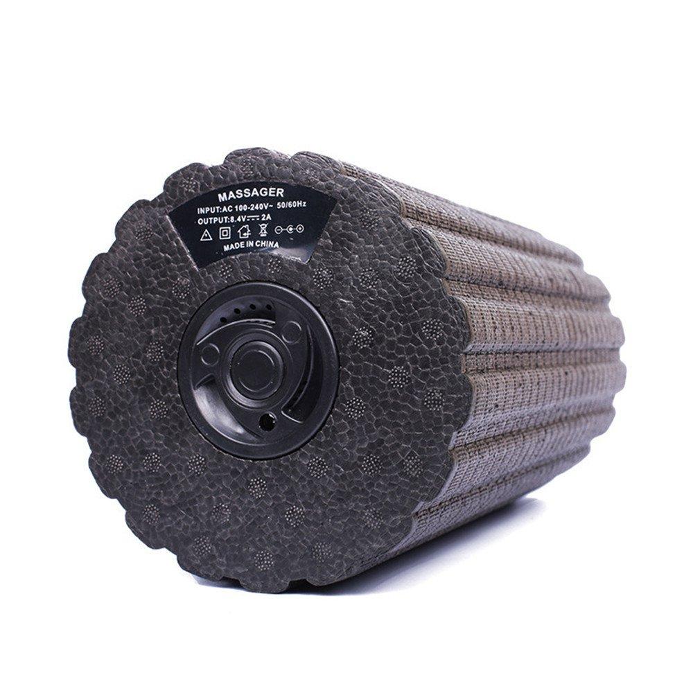 JFJL Vibrierende Schaum-Rolle 4 Geschwindigkeit Wieder Aufladbare Feste Schaum-Rolle, Tiefer Gewebemassager Für Übung, Yoga, Trigger-Punkt, Radfahren, Laufend, Ausdehnend, Muskeltherapie