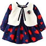 Zerototens Xmas Plaid Dress for Girls,0-3 Years Old Newborn Kid Baby Girls Lace Plaids Romper Bodysuit Dress Outfit Clothes Baby Christmas Costumes